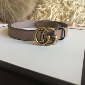 Gucci Accessories - Thin Gucci Belt with GG Buckle 90/36
